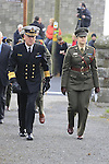 Vice Admiral Mellett (DSM) Army chief of staff arrives at The Funeral of Garda Anthony Golden RIP in St Oliver's church Blackrock Co Louth.<br /> <br /> Garda Golden was guned down in Omeath last Sunday.<br /> Picture Newsfile | Fran Caffrey