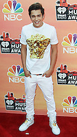 LOS ANGELES, CA, USA - MAY 01: Austin Mahone at the iHeartRadio Music Awards 2014 held at The Shrine Auditorium on May 1, 2014 in Los Angeles, California, United States. (Photo by Celebrity Monitor)