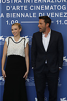 """VENICE, ITALY - SEPTEMBER 10: Jodie Comer and Ben Affleck attend the photocall of """"The Last Duel"""" during the 78th Venice International Film Festival on September 10, 2021 in Venice, Italy. <br /> CAP/GOL<br /> ©GOL/Capital Pictures"""