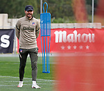 Atletico de Madrid's coach Diego Pablo Cholo Simeone during training session. March 3,2021.(ALTERPHOTOS/Atletico de Madrid/Pool)
