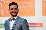 Fran Perea poses for the photographers during 2015 Theater Ceres Awards photocall at Merida, Spain, August 27, 2015. <br /> (ALTERPHOTOS/BorjaB.Hojas)