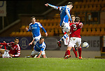 St Johnstone v Aberdeen.....30.01.13      SPL.Dave Mackay scores the thirds goal.Picture by Graeme Hart..Copyright Perthshire Picture Agency.Tel: 01738 623350  Mobile: 07990 594431