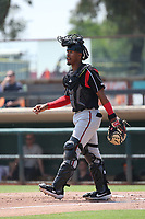 Jalen Washington (2) of the Lake Elsinore Storm during a game against the Inland Empire 66ers at San Manuel Stadium on June 5, 2019 in San Bernardino, California. (Larry Goren/Four Seam Images)