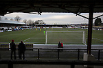 Chorley 2 Altrincham 0, 21/01/2017. Victory Park, National League North. Away supporters watching the first-half action at Victory Park, as Chorley played Altrincham (in yellow) in a Vanarama National League North fixture. Chorley were founded in 1883 and moved into their present ground in 1920. The match was won by the home team by 2-0, watched by an above-average attendance of 1127. Photo by Colin McPherson.
