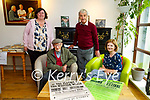 Raising the Curtin: Danny Hannon & Dr. Fiona Brennan. Back : Cara Trant & Eoin McMahon pictured at the Kerry Writers Museum.