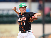 Sarasota Sailors pitcher Conner Whittaker (8) during the 42nd Annual FACA All-Star Baseball Classic on June 5, 2021 at Joker Marchant Stadium in Lakeland, Florida.  (Mike Janes/Four Seam Images)