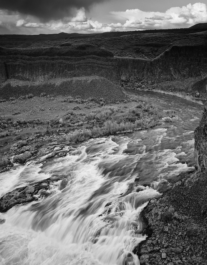 The Palouse river rushes toward Palouse Falls in Eastern Washington State.
