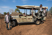 Chobe's Angels: All fifteen newly trained guides here at the Chobe Game Lodge in Botswana are women and run the new electric game vehicles.