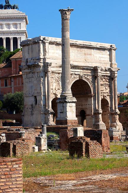 The Arch of Septmius Severus ( AD203) The Forum, Rome