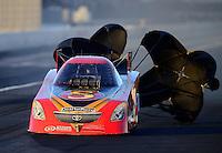 Nov. 10, 2012; Pomona, CA, USA: NHRA funny car driver Jim Head during qualifying for the Auto Club Finals at at Auto Club Raceway at Pomona. Mandatory Credit: Mark J. Rebilas-