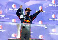 6th June 2021; F1 Grand Prix of Azerbaijan, Race Day;   11 Sergio Perez MEX, Red Bull Racing, wins the F1 Grand Prix of Azerbaijan at Baku City Circuit on June 6, 2021 in Baku, Azerbaijan.