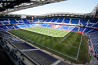 HARRISON, NJ - Sunday March 22, 2015: The New York Red Bulls defeat DC United 2-0 in their home opener at Red Bull Arena in 20th season of regular MLS play.