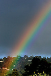 A rainbow was spotted over the hills of Mill Valley California.