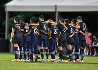 LAKE BUENA VISTA, FL - JULY 26: Sporting KC players watch the shootout during a game between Vancouver Whitecaps and Sporting Kansas City at ESPN Wide World of Sports on July 26, 2020 in Lake Buena Vista, Florida.