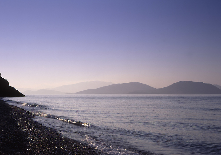 Asian, TUR, Turkey, Aegean, Landscape, Nature Reserve Milli Park, Typical Coast, View at  Samos Greek Island, Waves