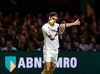 Rotterdam, The Netherlands, 16 Februari, 2018, ABNAMRO World Tennis Tournament, Ahoy, Tennis, Roger Federer (SUI)<br /> <br /> Photo: www.tennisimages.com