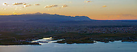 Sunset on Lake Pueblo with Pikes Peak and Pueblo West.  June 2014.