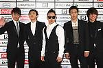 TOKYO - MAY 29: Big Bang band members arrive at the red carpet of the World Stage MTVJ 2010 show, May 29, 2010 at Yoyogi National Stadium in Tokyo, Japan.