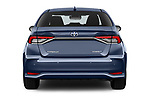 Straight rear view of a 2019 Toyota Corolla  Premium 4 Door Sedan stock images