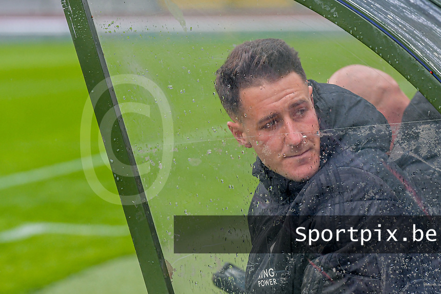 Head coach Jimmy Coenraets of OHL pictured before a female soccer game between RSC Anderlecht Dames and Oud Heverlee Leuven on the seventh matchday of play off 1 of the 2020 - 2021 season of Belgian Womens Super League , saturday 15 th of May 2021  in Brussels , Belgium . PHOTO SPORTPIX.BE | SPP | STIJN AUDOOREN