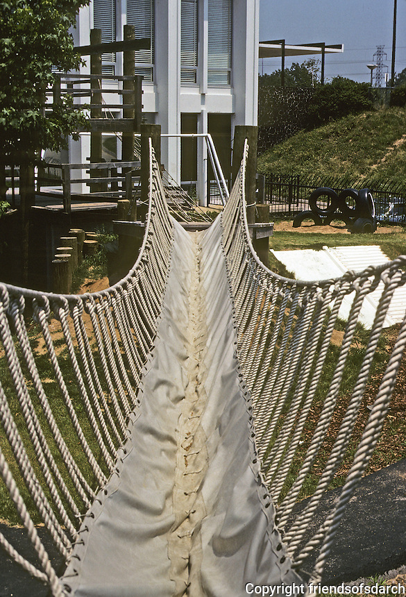 St. Louis: Jewish Community Center, Children's Learning Center. Rope bridge. Photo '78.