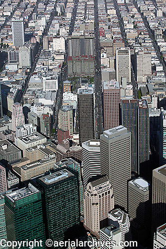 erial photograph Geary Street Union Square San Francisco financial district