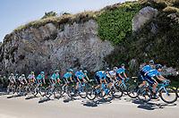 Team Movistar & World Champion Alejandro Valverde (ESP/Movistar) checking out the seaside<br /> <br /> Stage 14: San Vicente de la Barquer to Oviedo (188km)<br /> La Vuelta 2019<br /> <br /> ©kramon