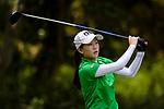 Lin Meng of China tees off during the first round of the EFG Hong Kong Ladies Open at the Hong Kong Golf Club Old Course on May 11, 2018 in Hong Kong. Photo by Marcio Rodrigo Machado / Power Sport Images