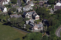 Aerial view of the house belonging to Catherine Zeta Jones and Michael Douglas in Mumbles Swansea