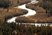 Popular River in fall as seen from the Popular River overlook  on the Superior Hiking Trail near Lutsen, Minnesota
