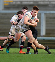 Tuesday 6th March 2019 | Ulster Schools Cup - Semi Final 1<br /> <br /> Jude Roberts on the charge during the Ulster Schools cup semi-final between Campbell College Belfast and the Royal School Armagh at Kingspan Stadium, Ravenhill Park, Belfast, Northern Ireland. Photo by John Dickson / DICKSONDIGITAL