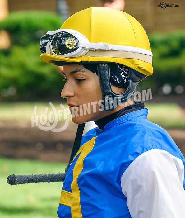Carol Cedeno before The First State Dash Stakes at Delaware Park on 9/10/16
