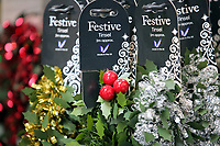 Pictured: Different varieties of tinsle in colour and decorations in the tinsel room. Thursday 16 November 2017<br /> Re: Festive company which manufactures tinsel in Cwmbran, Wales, UK.