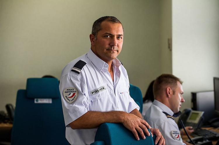 Major Corion, police nationale -  CIC Centre d'information et de Commandement 13 - Images personnel et matériel RTM - Régie des Transports Marseillais - Marseille