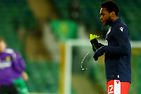 3rd November 2020; Carrow Road, Norwich, Norfolk, England, English Football League Championship Football, Norwich versus Millwall; Mahlon Romeo of Millwall drinks some water during the warm up