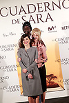 Spanish the actors Belén Rueda (r), Marian Álvarez (f) and Ivan Mendes during the photocall of presentation of the film 'El cuaderno de Sara'. January 30, 2018. (ALTERPHOTOS/Acero)
