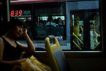 City buses are being rerouted as security is being tightened for the upcoming Games in Beijing, China on Monday, August 4, 2008. The city of Beijing is gearing up for the opening ceremonies of the Olympic Games.  Kevin German