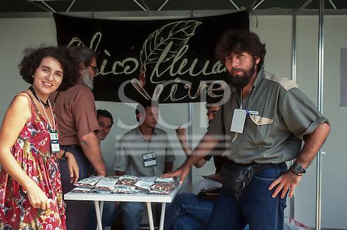 UNCED Earth Summit, Rio de Janeiro, 1992. Gomercindo Rodrigues, rubber tapper leader.