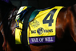 November 7, 2020 : War of Will, ridden by Mark E. Casse walks the paddocks before the Big Ass Fans Dirt Mile on Breeders' Cup Championship Saturday at Keeneland Race Course in Lexington, Kentucky on November 7, 2020. Carolyn Simancik/Breeders' Cup/Eclipse Sportswire/CSM