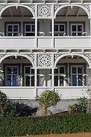 Bäderarchitektur im Ostseebad Göhren auf Rügen, Mecklenburg-Vorpommern, Deutschland