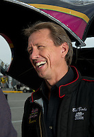 Sept. 4, 2011; Claremont, IN, USA: NHRA funny car driver Bob Bode during qualifying for the US Nationals at Lucas Oil Raceway. Mandatory Credit: Mark J. Rebilas-