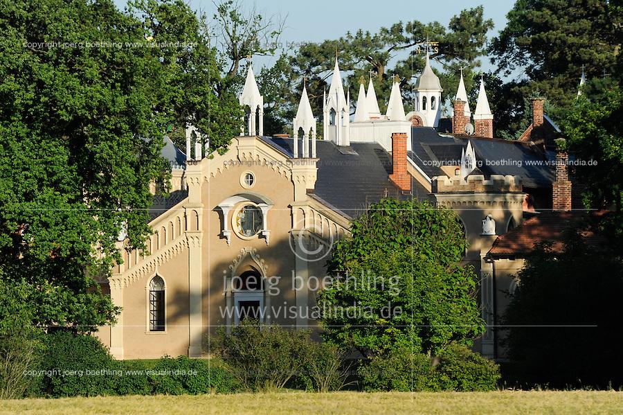 GERMANY, landscape park Dessau Woerlitz, Gotic house / Deutschland Kulturstiftung und Gartenreich Dessau-Woerlitz in Sachsen-Anhalt, gotisches Haus