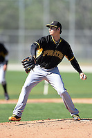 Pittsburgh Pirates pitcher Jeff Locke (31) during a minor league spring training intrasquad game on March 30, 2014 at Pirate City in Bradenton, Florida.  (Mike Janes/Four Seam Images)