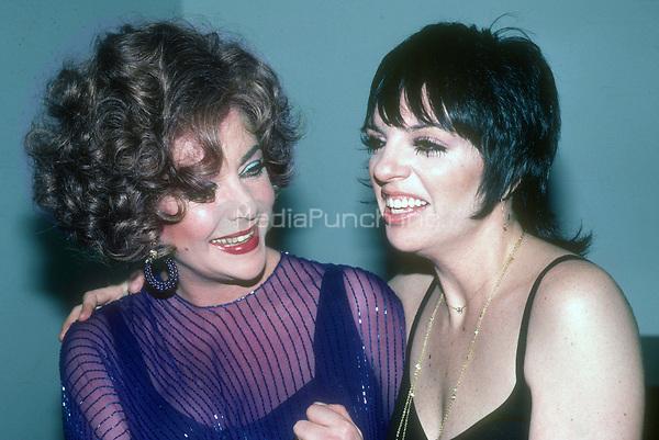 Elizabeth Taylor and Liza Minnelli 1978<br /> Photo By Adam Scull/PHOTOlink.net /MediaPunch