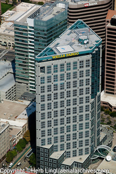 aerial photograph Wells Fargo Center, Salt Lake City, Utah