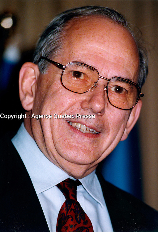 June 1999 FILE Photo, Montreal, Canada<br /> <br /> Michel Camdessus<br /> Managing Director, IMF, (January 1987-February 2000).<br /> Mr. Camdessus retired from the IMF on February 14, 2000.<br /> <br /> <br /> <br /> <br /> Mandatory Credit: Photo by Pierre Roussel- Images Distribution. (©) Copyright 1999 by Pierre Roussel