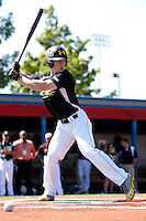 Outfielder Clint Frazier #19 of Loganville High School in Georgia participates in the Under Armour All-American Practice powered by Baseball Factory at Les Miller Field on August 17, 2012 in Chicago, Illinois.  (Mike Janes/Four Seam Images)