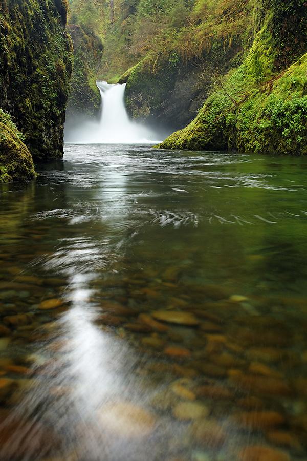 Punchbowl Falls, Eagle Creek Recreation Area, Columbia River Gorge National Scenic Area, Oregon, USA