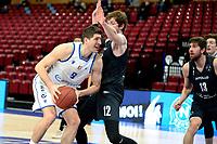 11-02-2021: Basketbal: Donar Groningen v Apollo Amsterdam: Groningen  Donar speler Damjan Rudez in duel met Apollo speler Weijs