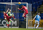 St Johnstone v Aberdeen…13.12.17…  McDiarmid Park…  SPFL<br />Kari Arnason heads in the second goal<br />Picture by Graeme Hart. <br />Copyright Perthshire Picture Agency<br />Tel: 01738 623350  Mobile: 07990 594431